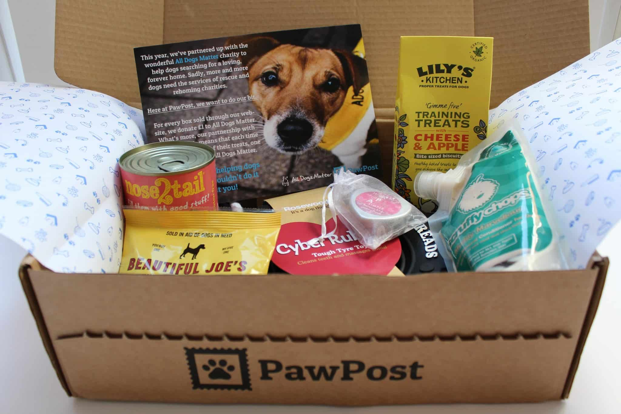 Pawpost Monthly Pet Box - Whatu0027s in the box? & Pawpost Teams Up With All Dogs Matter (Plus Review of the Pawpost ... Aboutintivar.Com