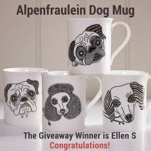 Alpenfraulein Dog Mug Giveaway Wiinner