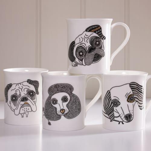 Alpenfraulein Dog Mugs