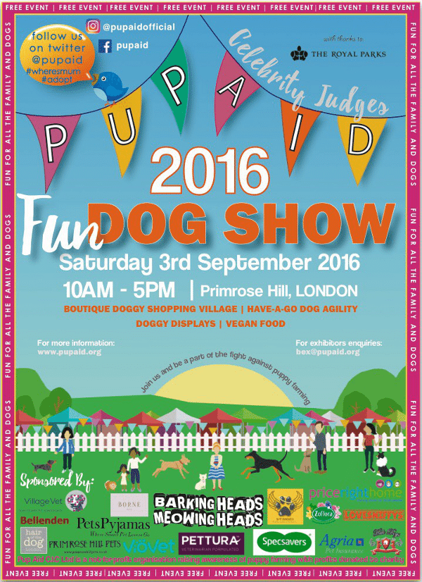 Pupaid 2016 Flyer - September Dog Events