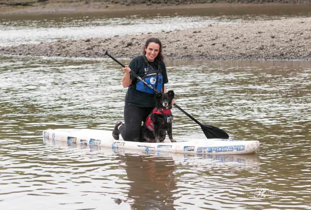 Dog and Human Paddle Boarding 00021