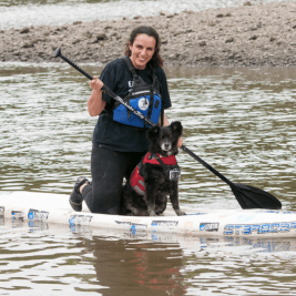 FB- Dog and Human Paddle Boarding