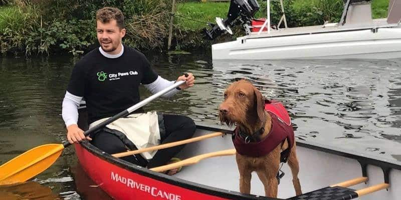 Dog & Human Kayaking