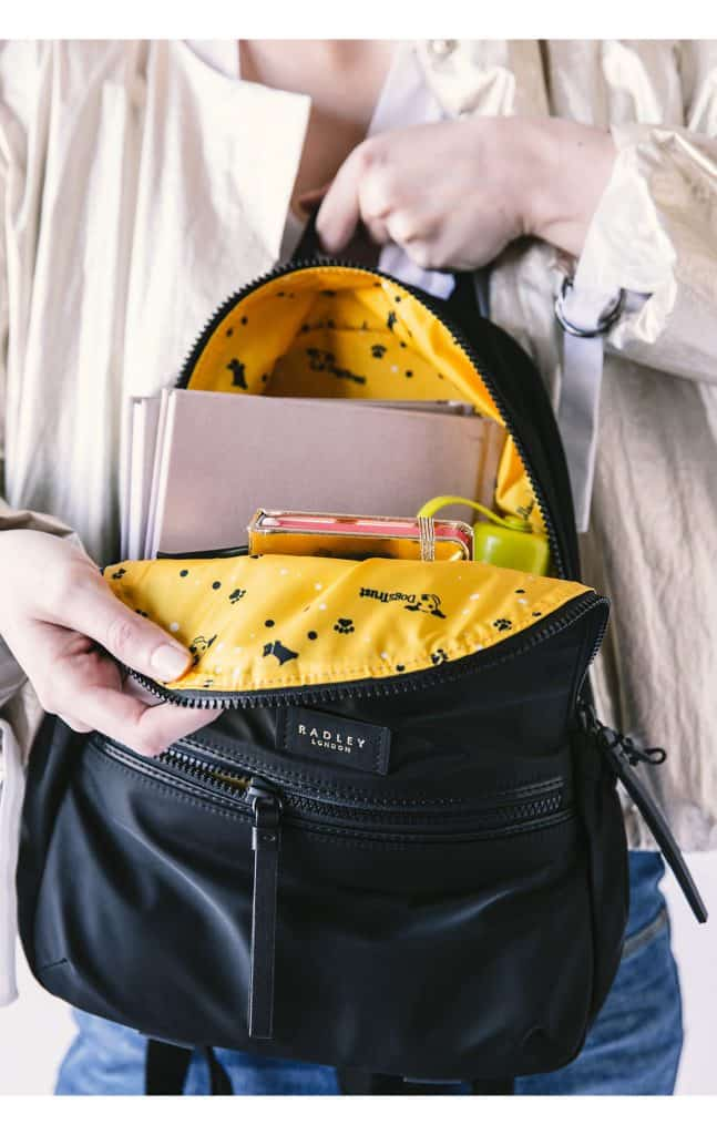 Gifts That Give Back - Radley-dogs-trust-non-leather-black-backpack-bag-1
