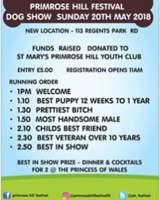 Primrose Hill Festival Dog Show 2018