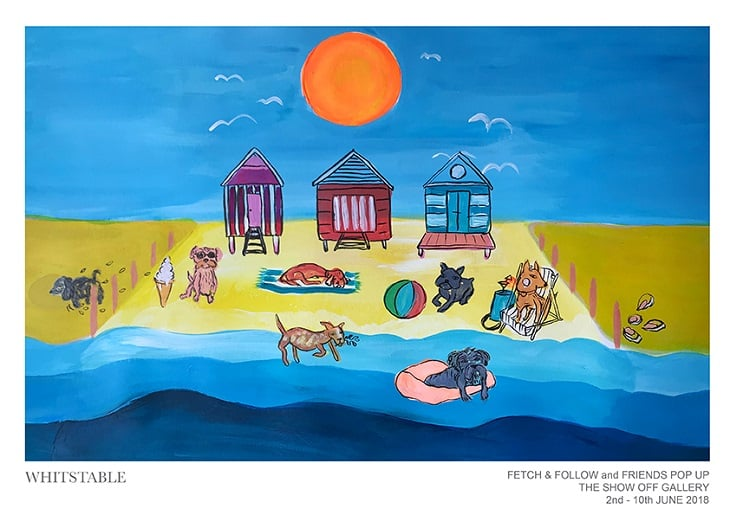 Fetch & Follow and Friends Pop-Up Dog Shop Whitstable Artwork Resized