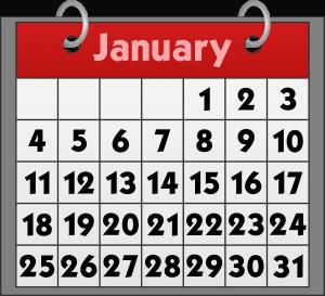 Pet Holidays and Awareness Days  - January Calendar