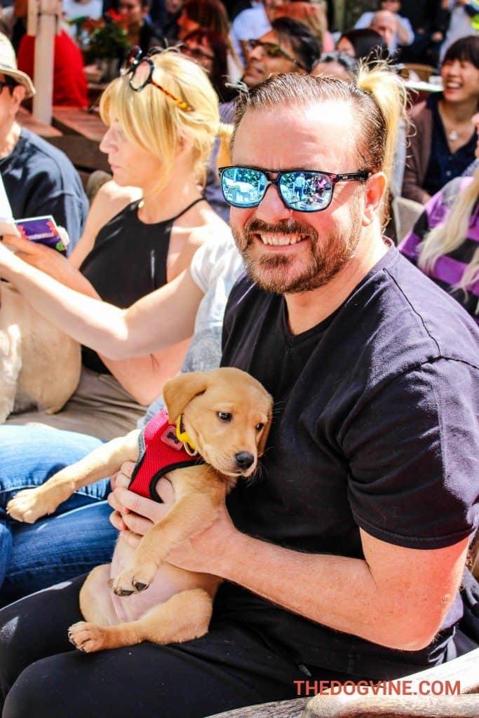 PupIdol 2015 - Ricky Gervais & Monty