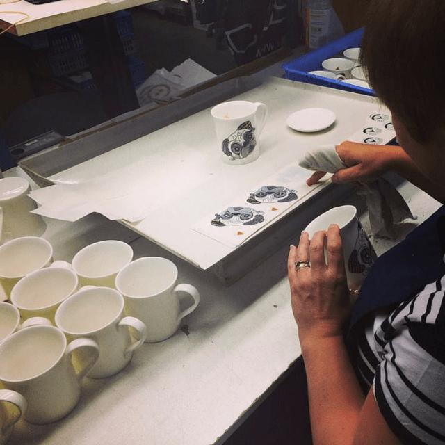Handcrafted Alpenfraulein Dog Mugs