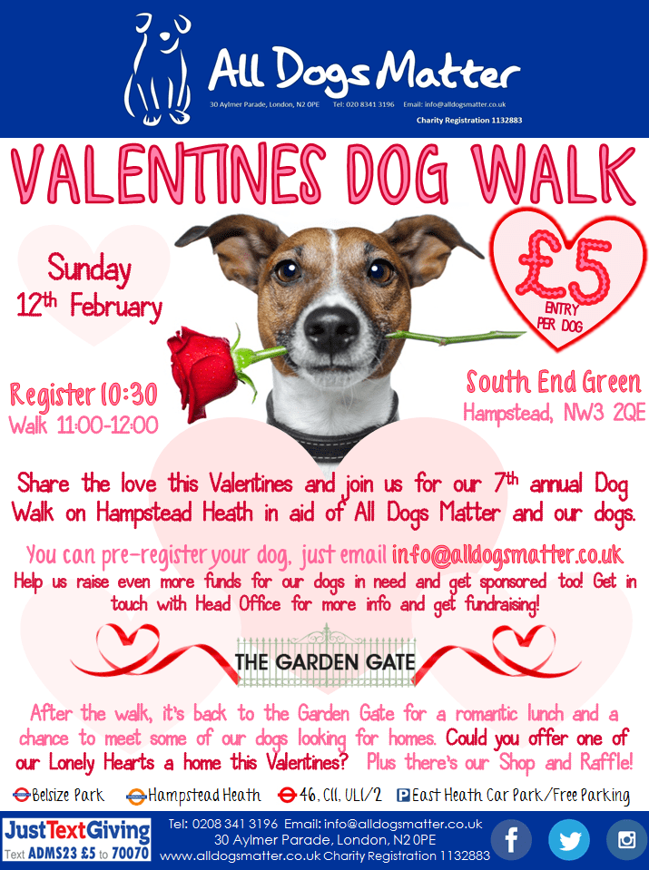All Dogs Matter Valentines Walk 2017