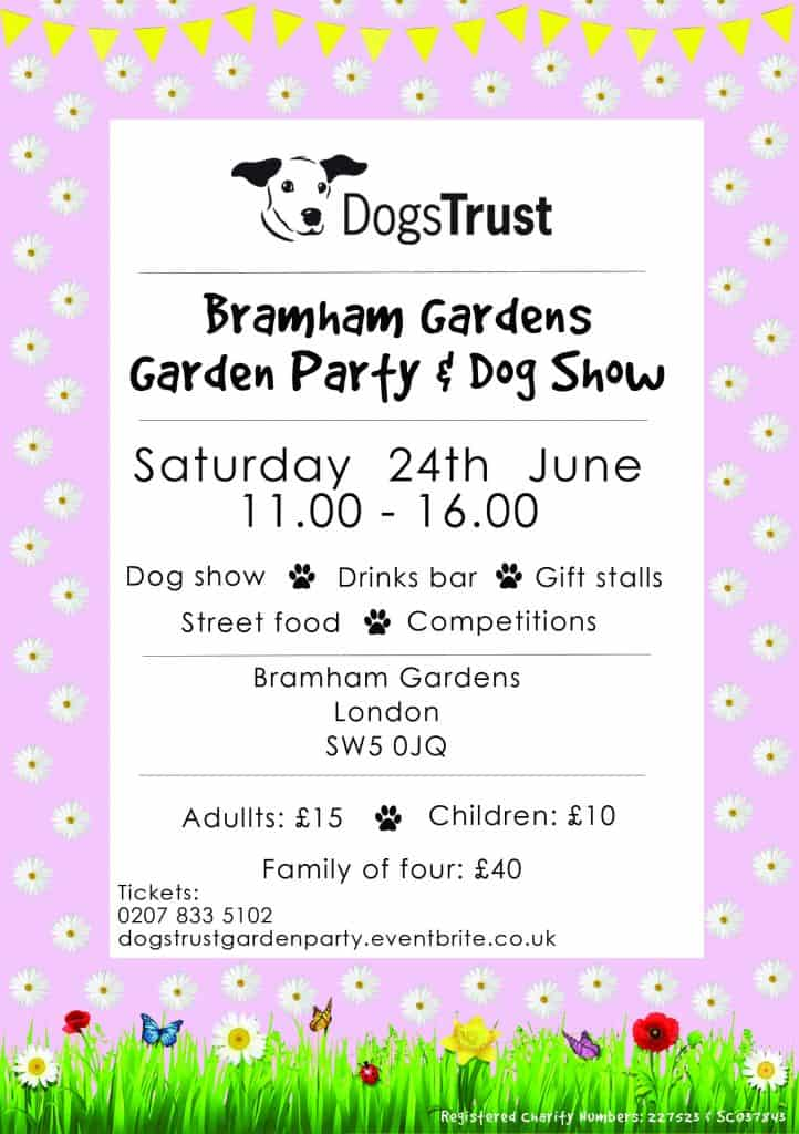 Dogs Trust Garden Party and Dog Show Flyer