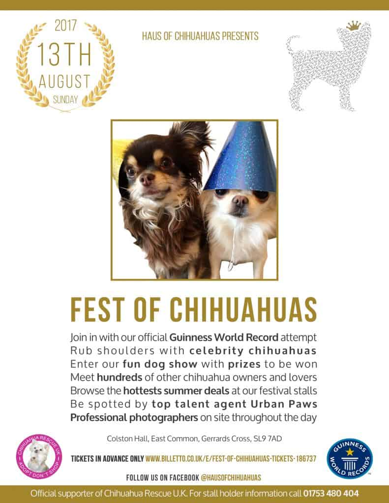 Fest of Chihuahuas 2017 Flyer