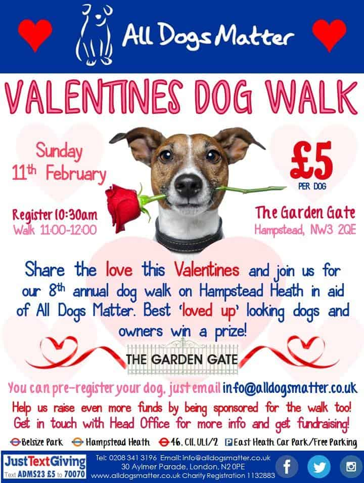 All Dogs Matter Valentines Walk 2018