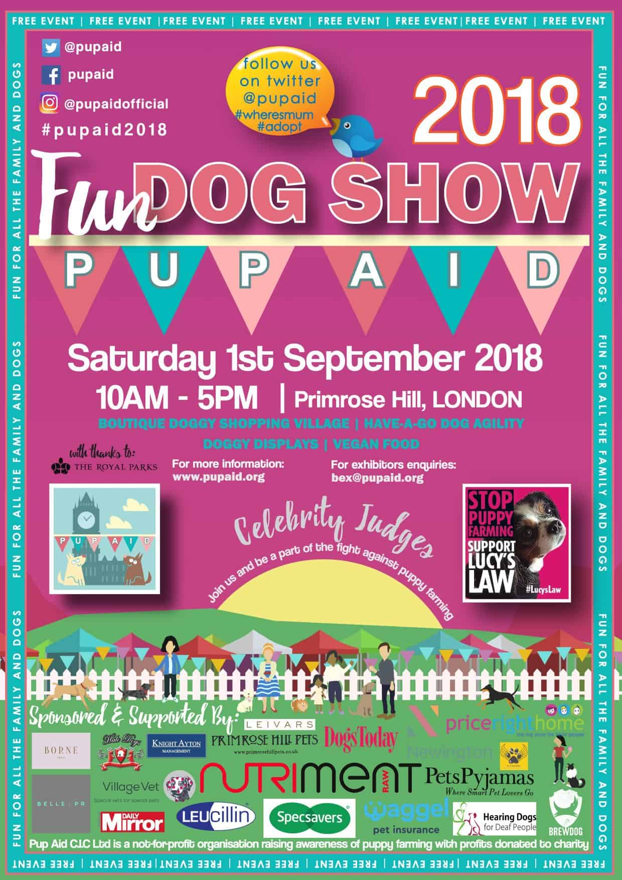 London Dog Events Pup Aid 2018