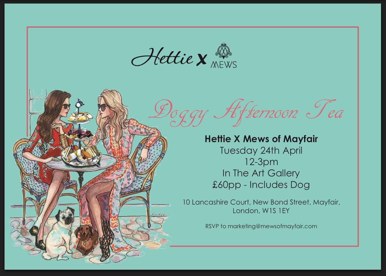 London Dog Events - Hettie x Mews of Mayfair Doggy Afternoon Tea