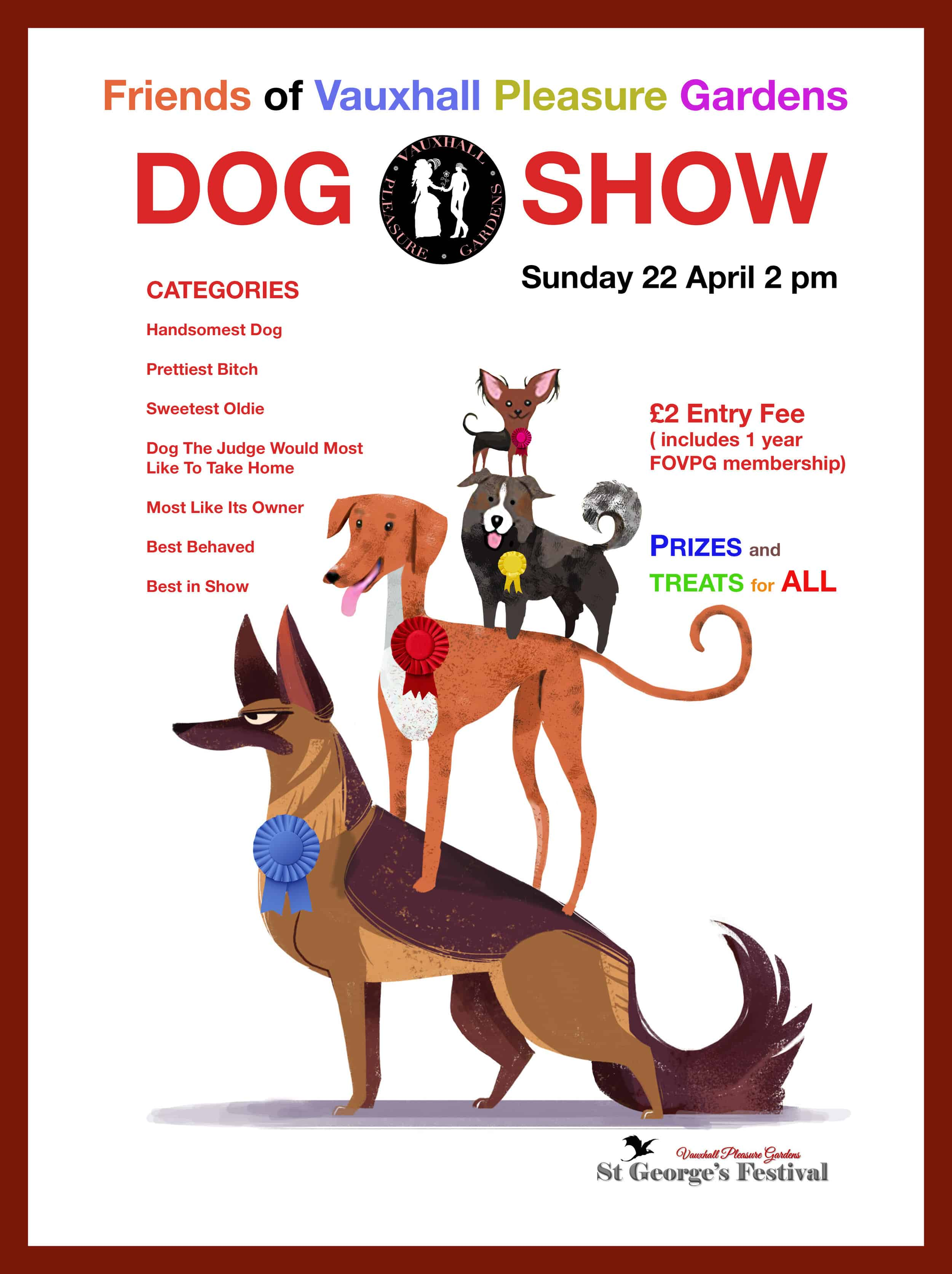 London Dog Shows - Friends of Vauxhall Pleasure Gardens Dog Show 2018 Poster