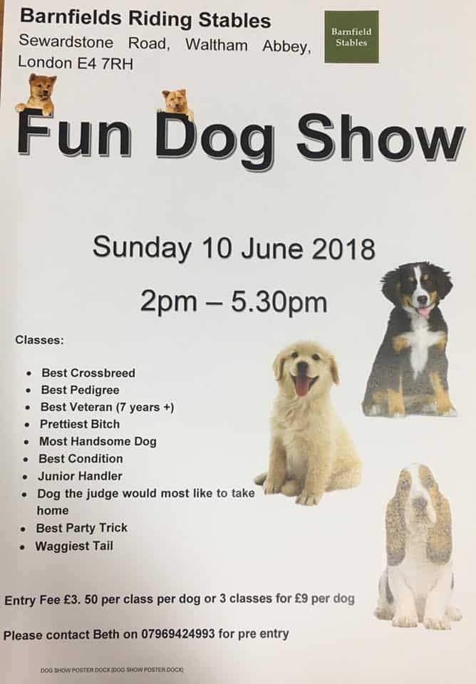 London Dog Events - Barnfields Fun Dog Show 2018