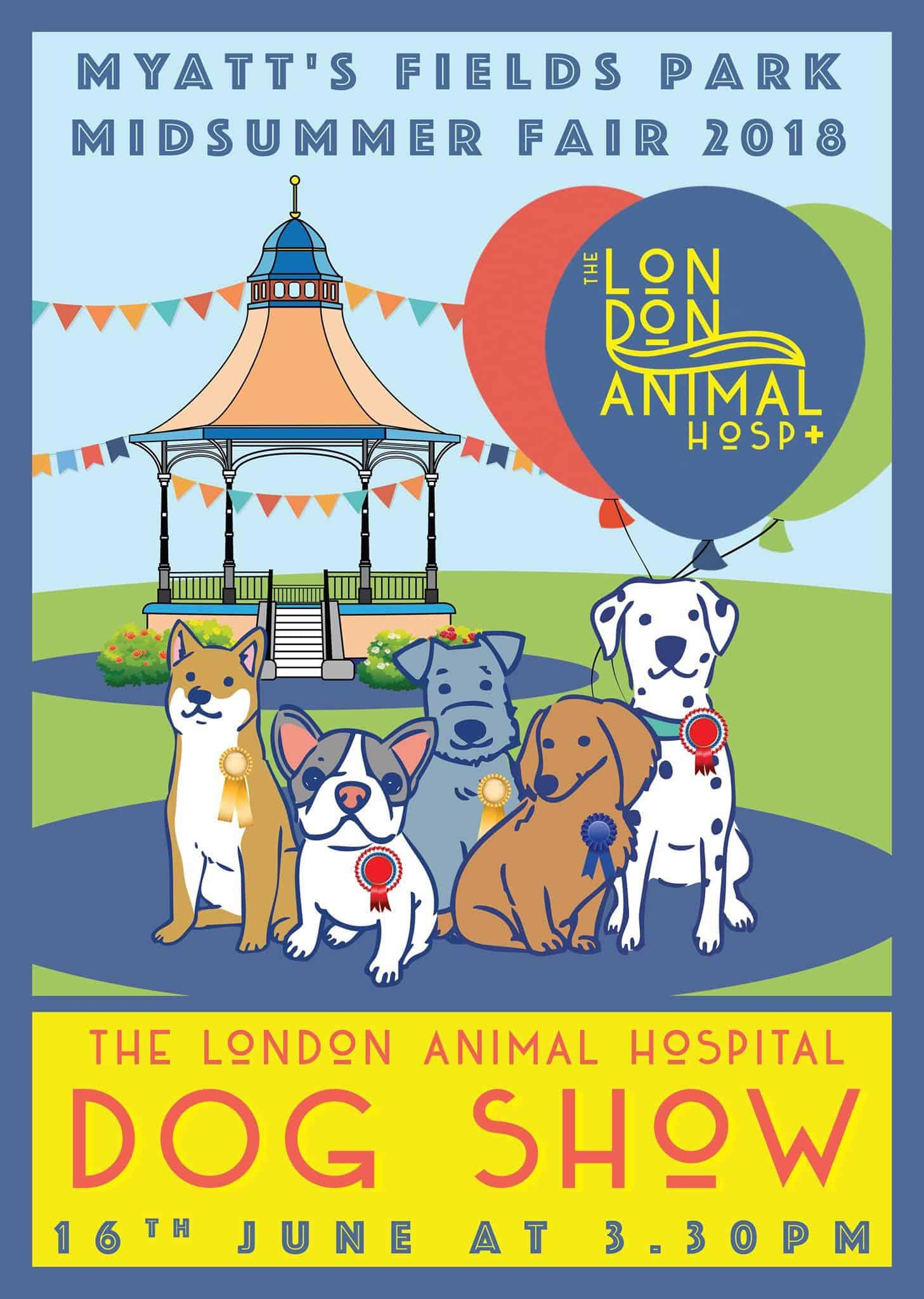 London Dog Events - Myatt's Field Park Midsummer Fair Dog Show 2018