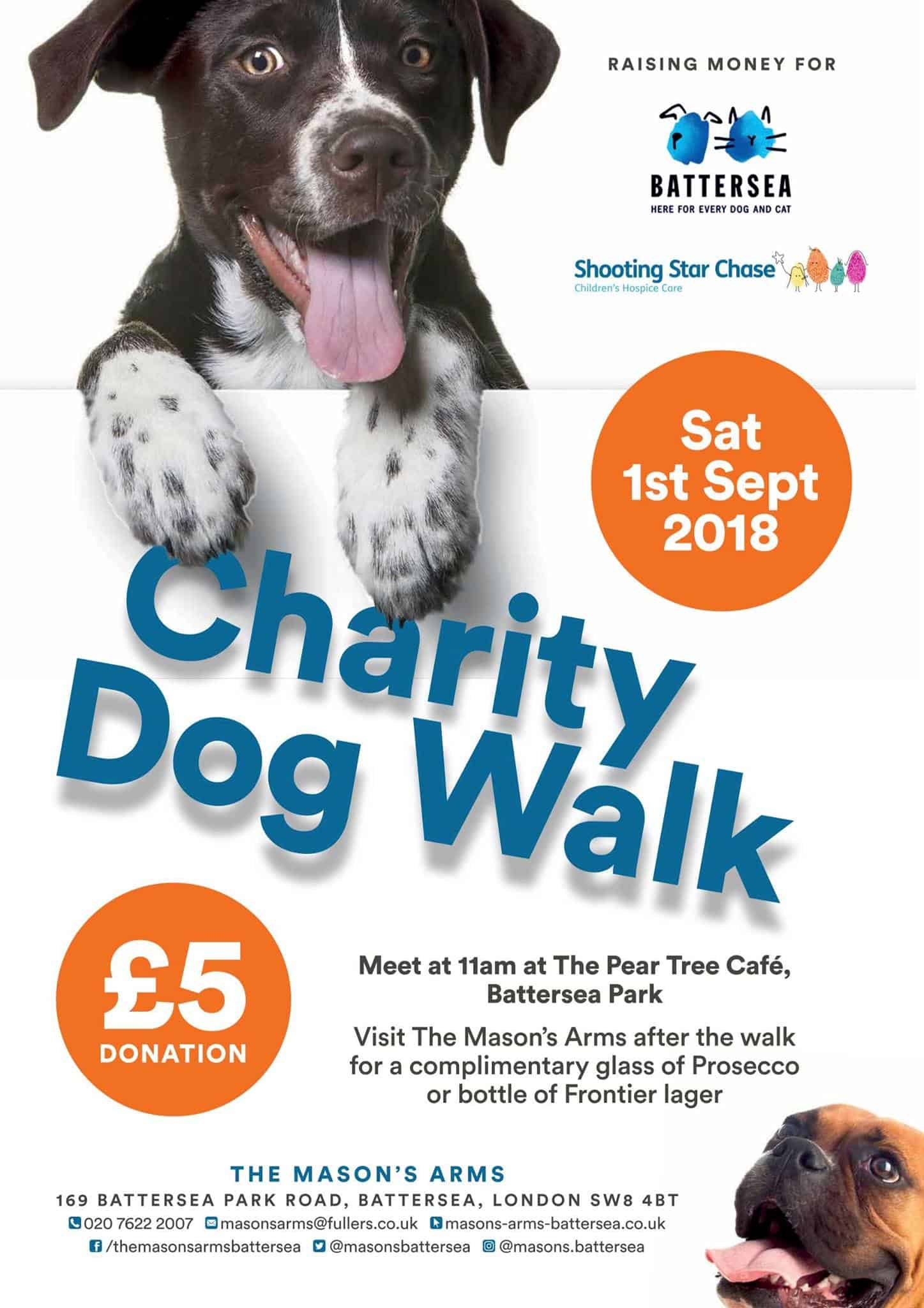 Charity Dog Walk in Battersea Park September 2018