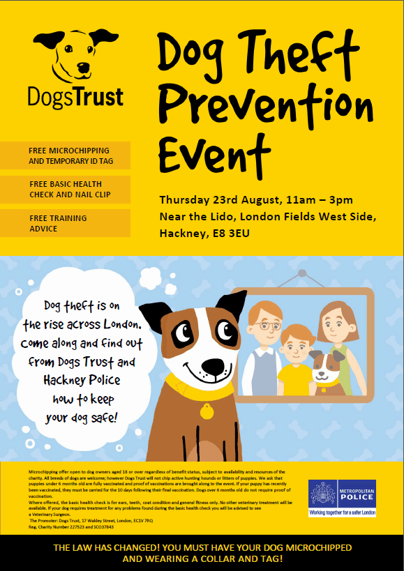 Dog Theft Prevention Event - London Fields