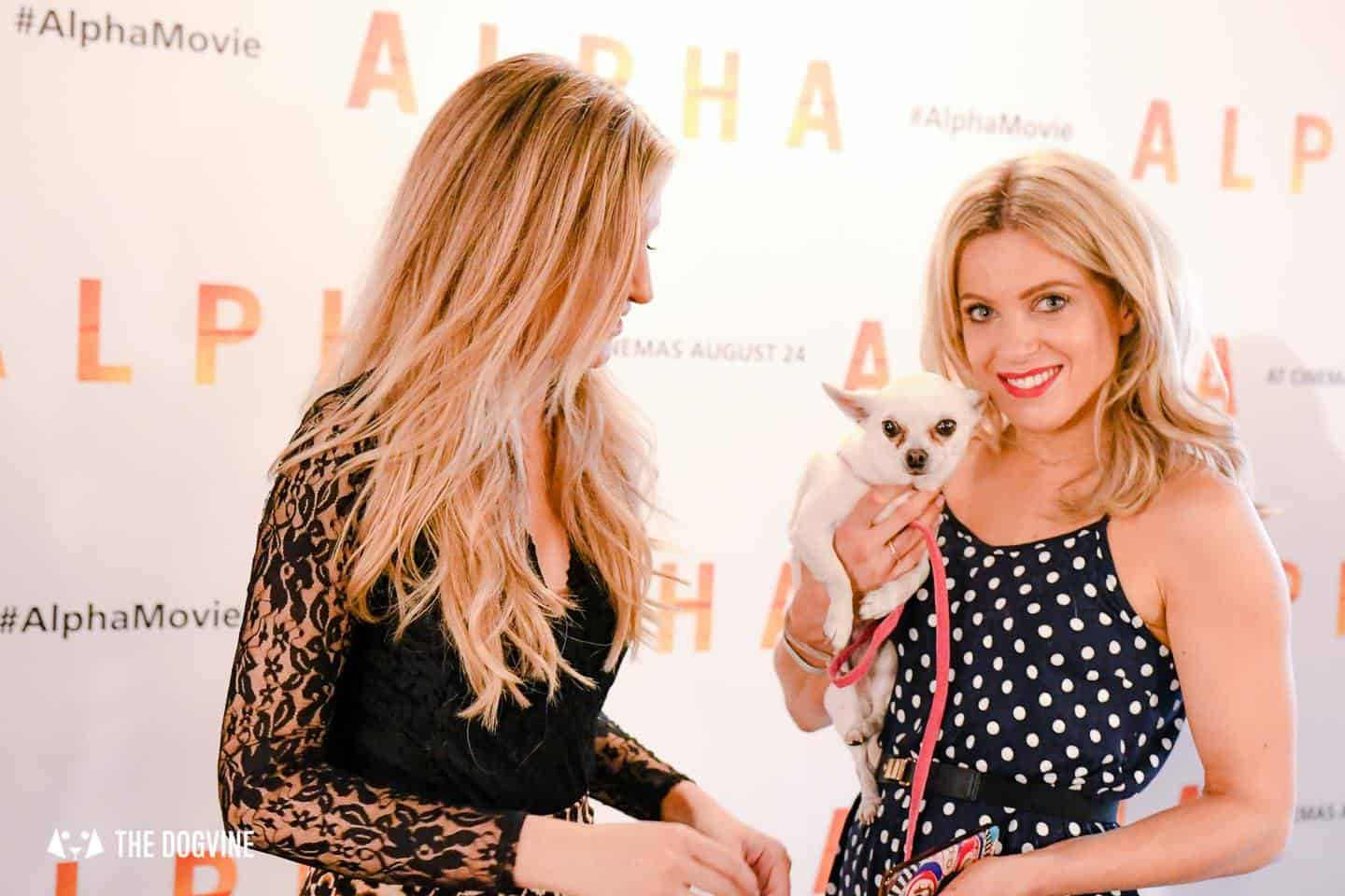 London Dogs At The Alpha Film Gala At Picturehouse Central Olivia Cox and Victoria Brown
