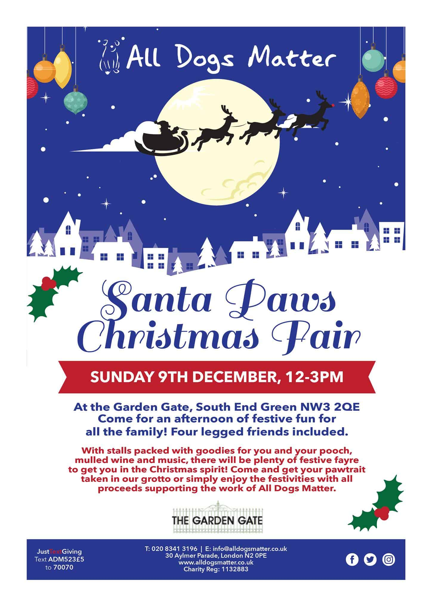 All Dogs Matter Santa Paws Christmas Fair 2018 Event