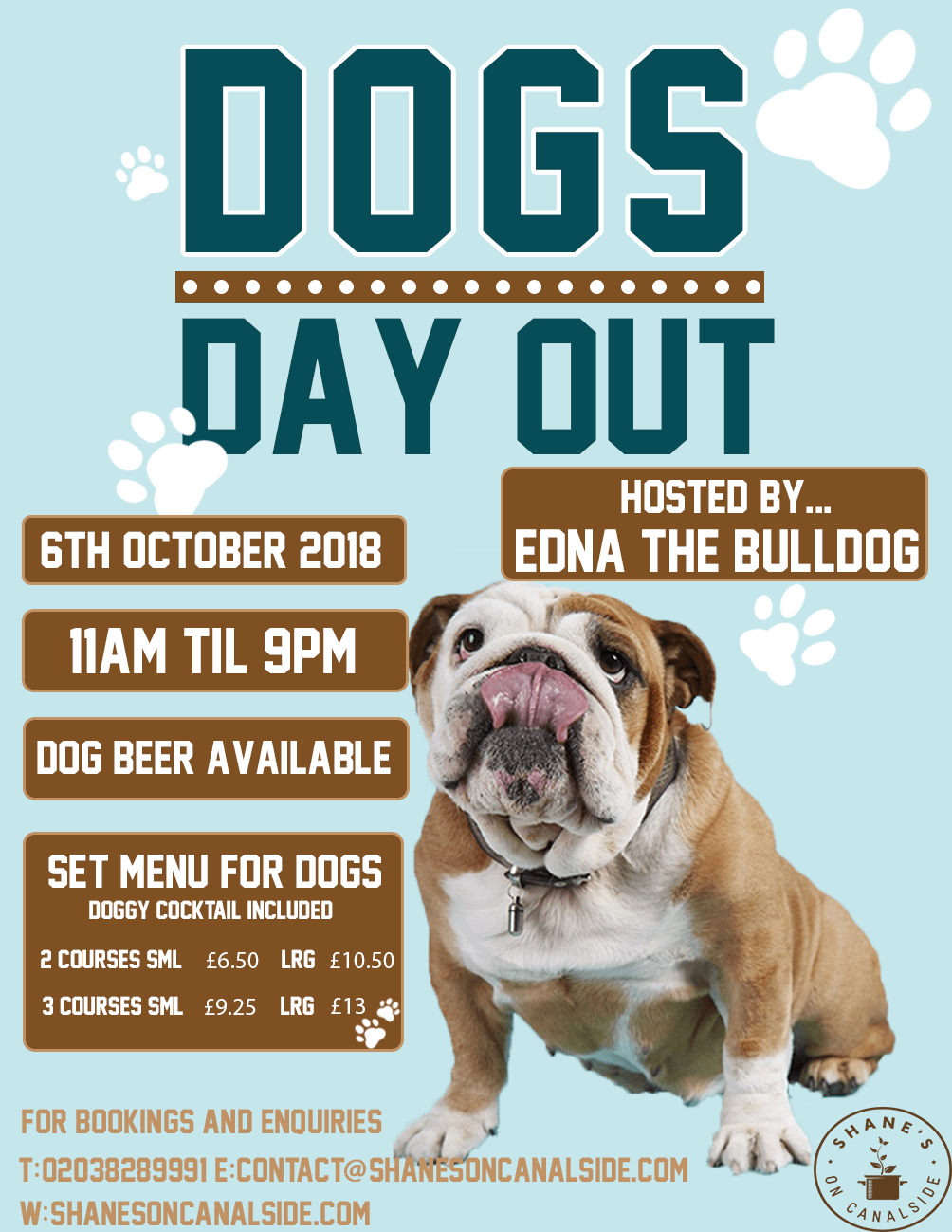 Dogs Day Out at Shane's Canalside October