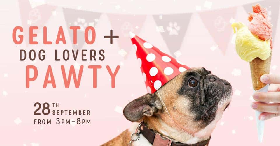 Gelato + Dog Lovers Pawty 28th September 2018