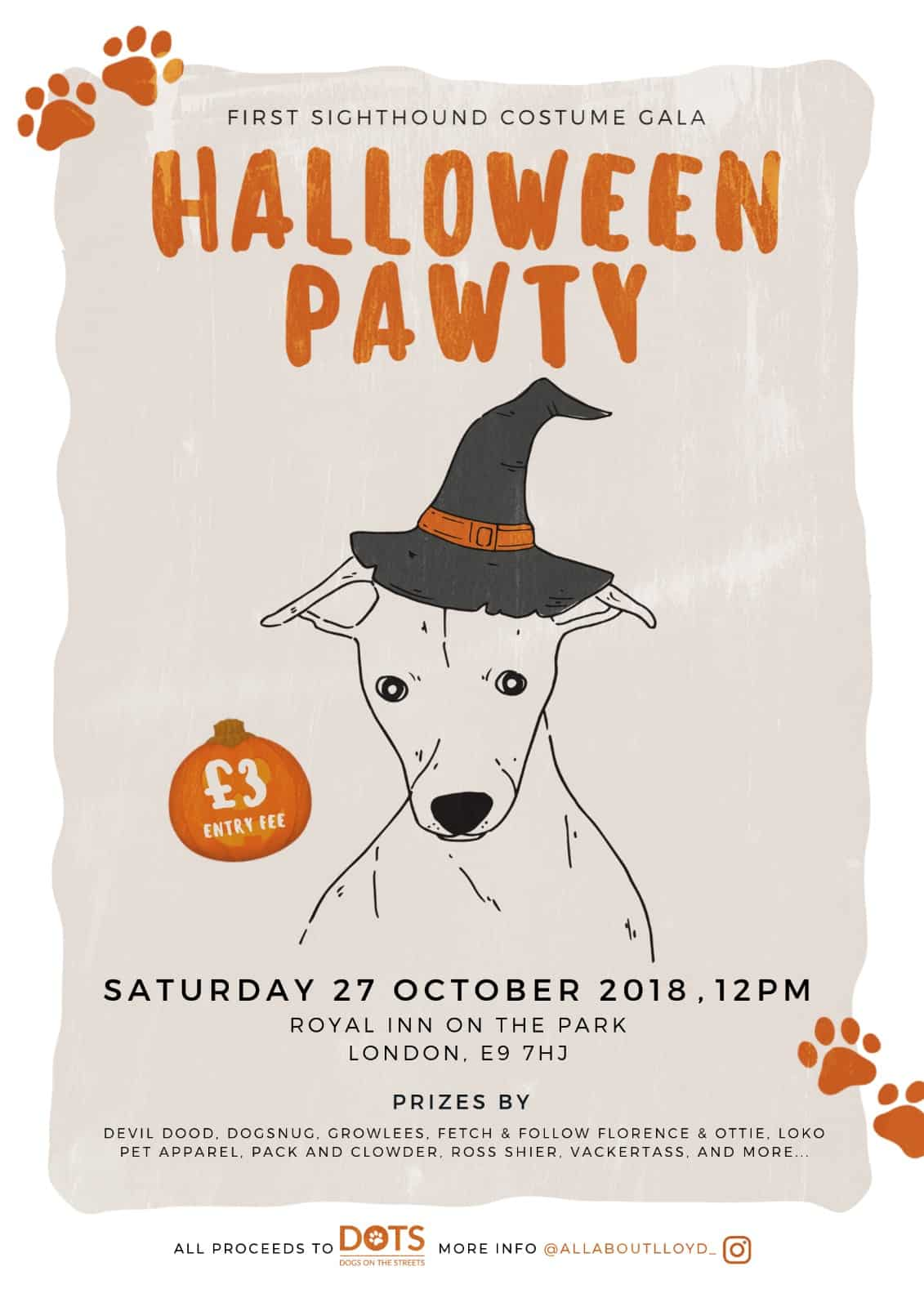 Sighthound Costume Gala Halloween Pawty