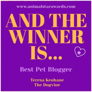 Animal Star Awards 2018 Best Pet Blogger