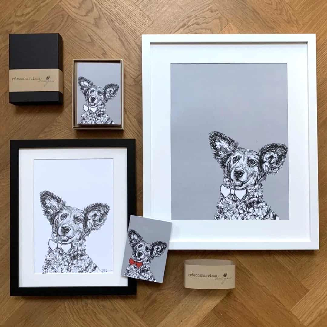 London Dog Portraits To Make You Smile - Rebecca Harrison Designs - Cards and Portrait
