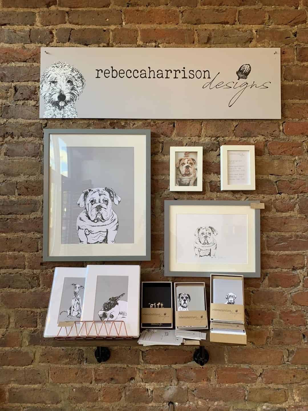 London Dog Portraits To Make You Smile - Rebecca Harrison Designs - Masters Touch Display