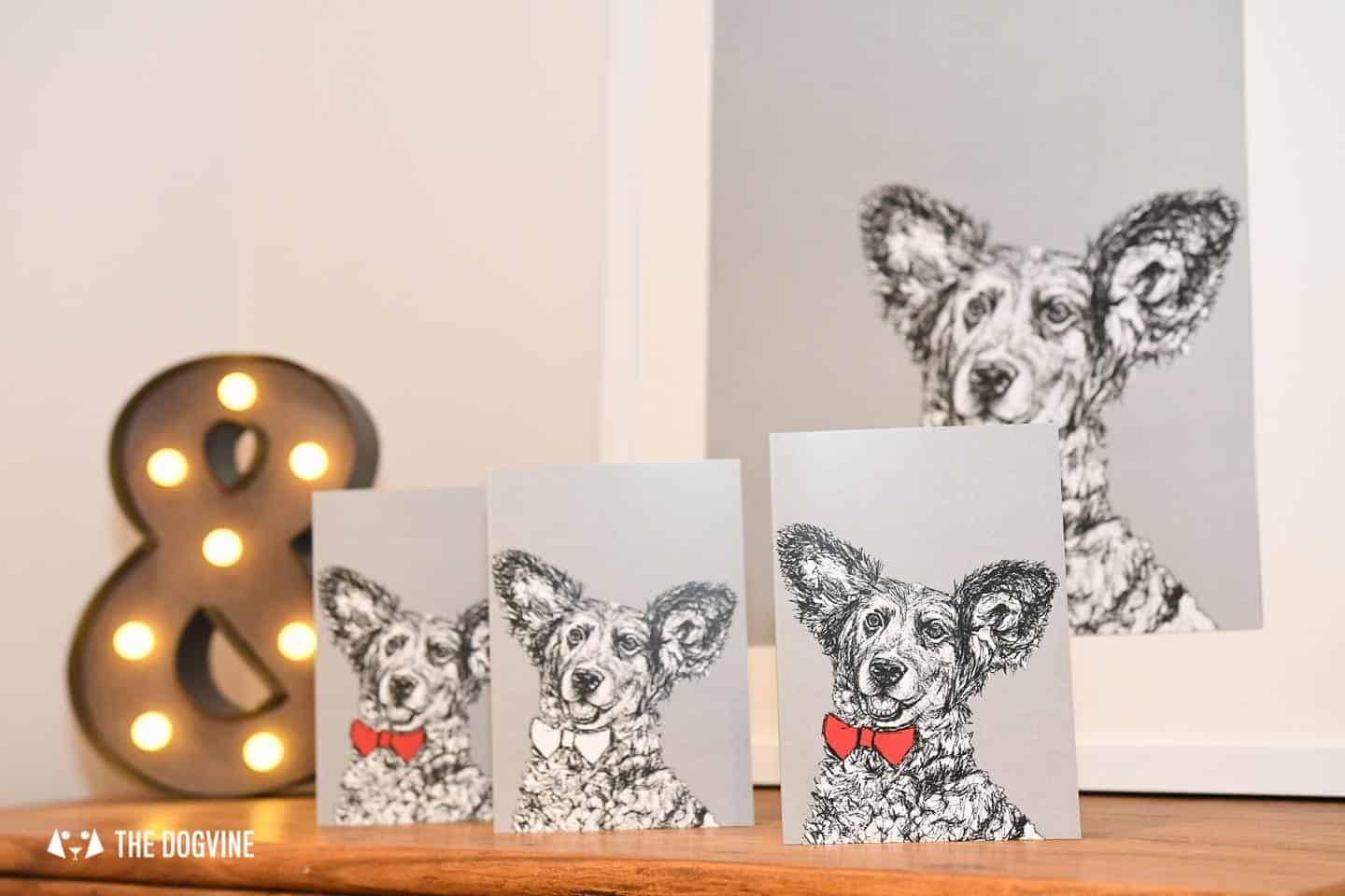 London Dog Portraits To Make You Smile - Rebecca Harrison Designs - Personalised Cards