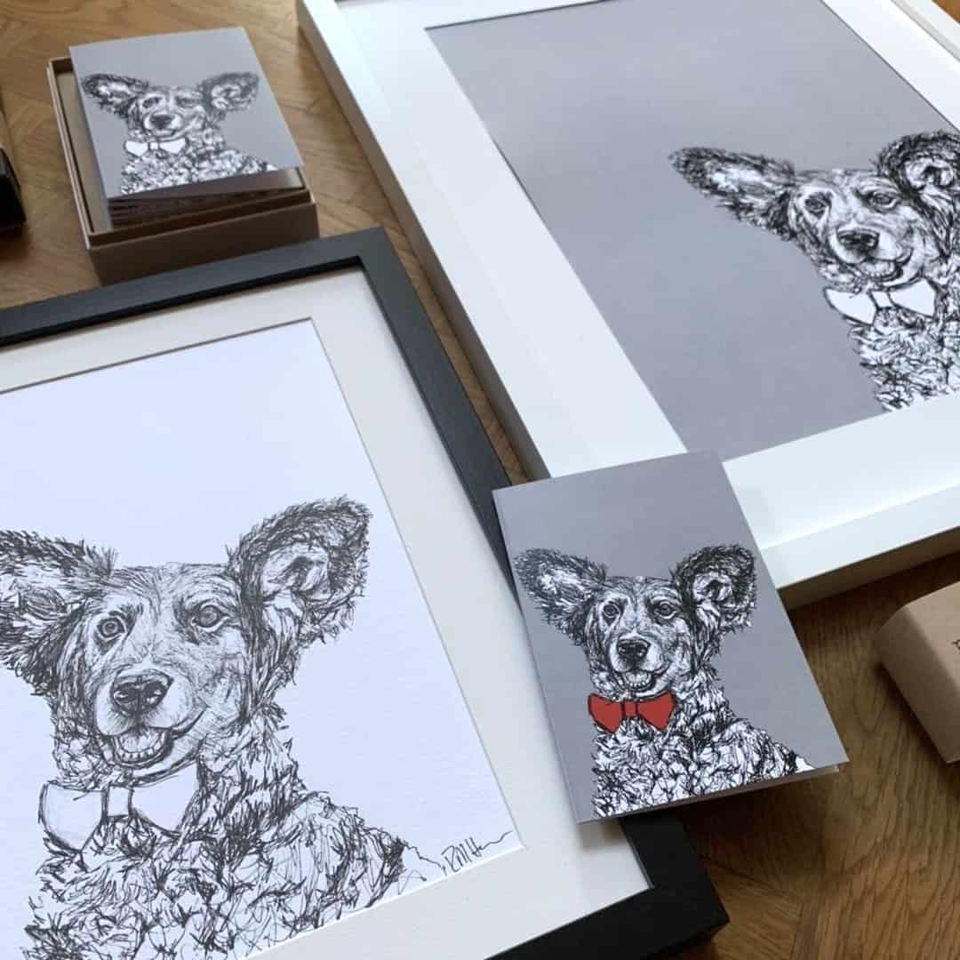 London Dog Portraits To Make You Smile - Rebecca Harrison Designs Products