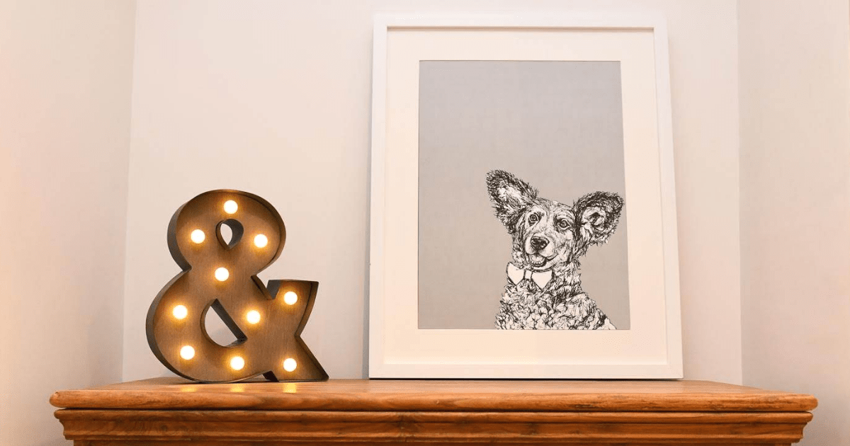 London Dog Portraits To Make You Smile | Rebecca Harrison Designs