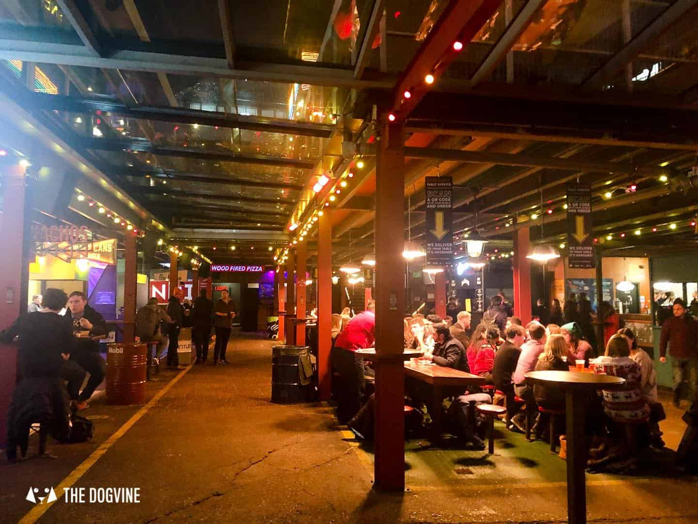 Best Dog-friendly Street Food Markets and Halls in London - Dinerama Shoreditch