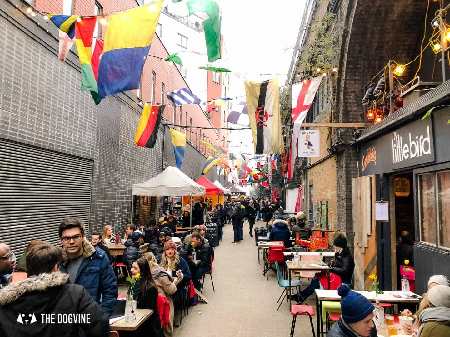 Best Dog-friendly Street Food Markets and Halls in London - Maltby Street Market