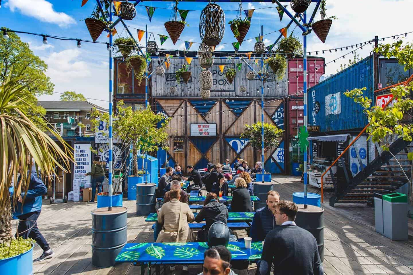 Best Dog-friendly Street Food Markets and Halls in London - Pop Brixton