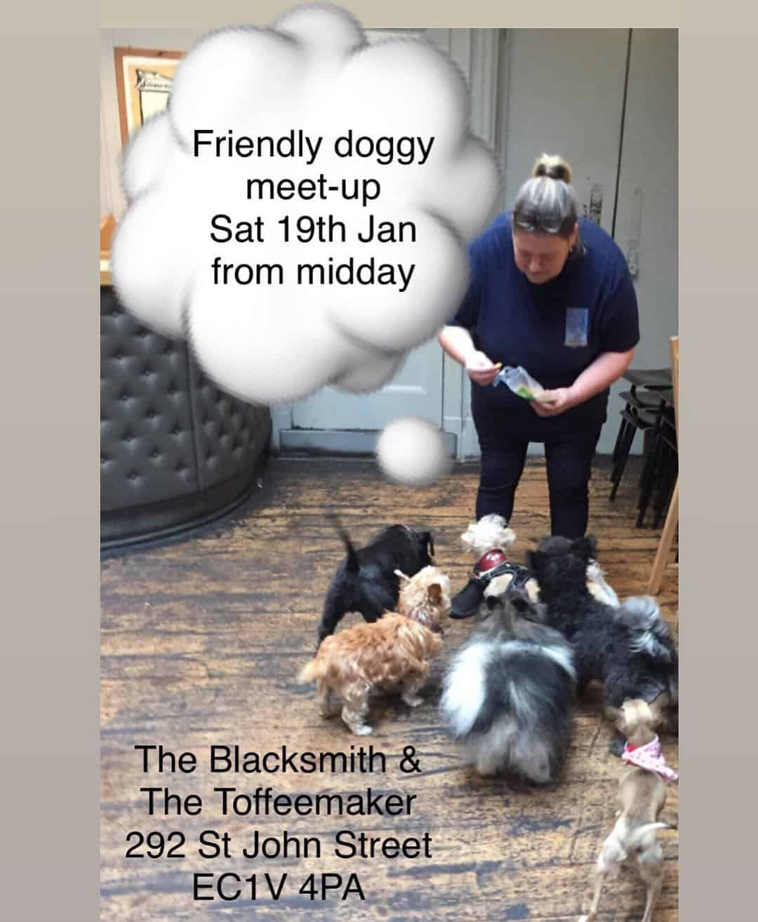 Doggy Meetup at The Blacksmith and The Toffeemaker