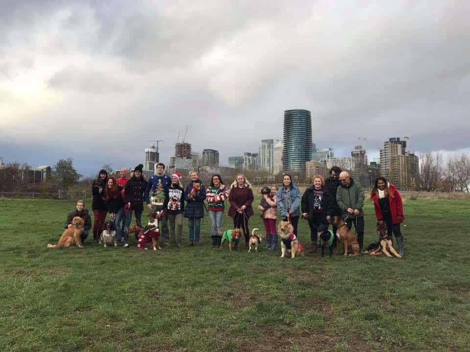 Isle of Dogs Doggie Meetup Victoria Park