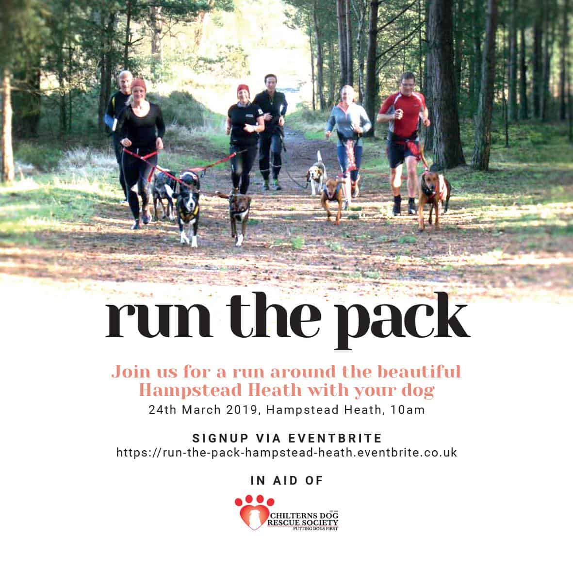 Run The Pack Hampstead Heath 24 March 2019