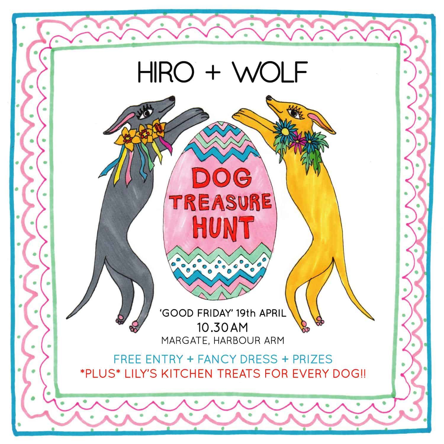 Easter-Treasure-Hunt-for-Dogs-Hiro-Wolf-Margate-2