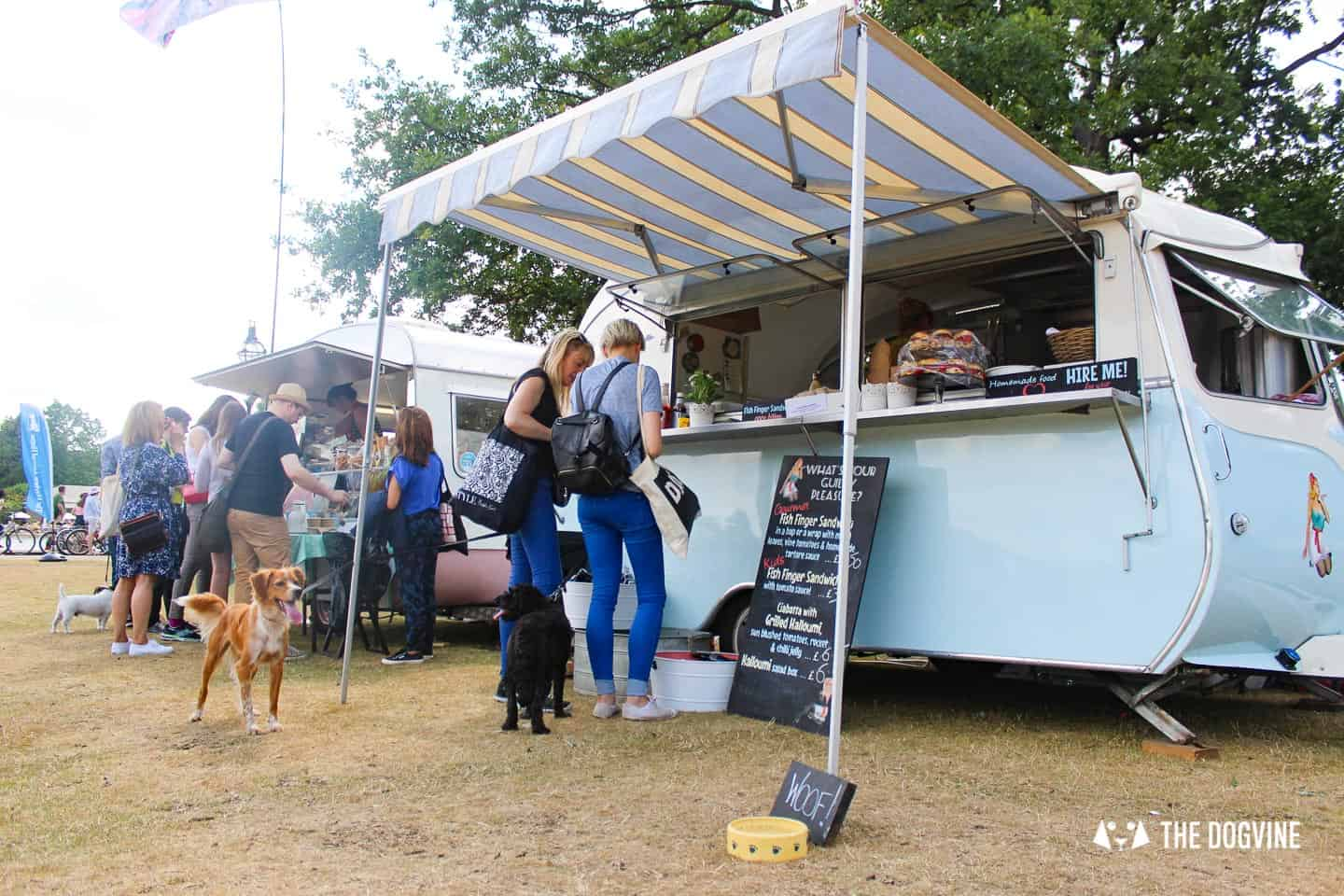 The Best Dog-friendly Festivals in London And Nearby - Dogs at Festival Food Van
