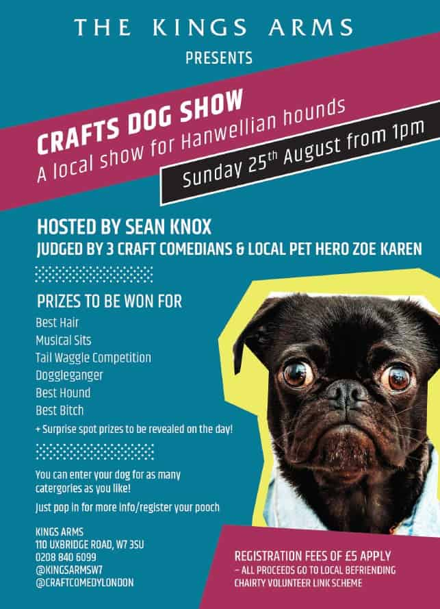 Crafts DOG SHOW King's Arms Flyer