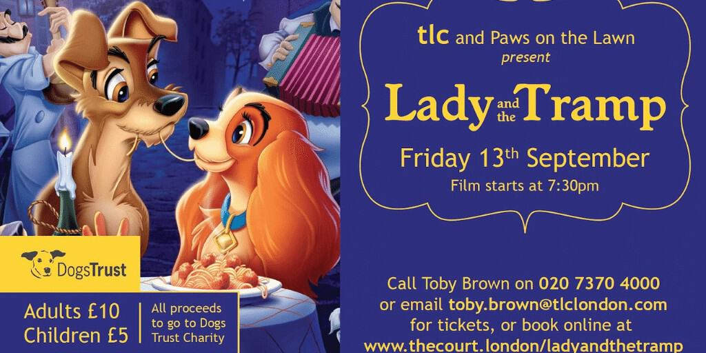 Lady and The Tramp in Bramham Gardens - Dogs Trust