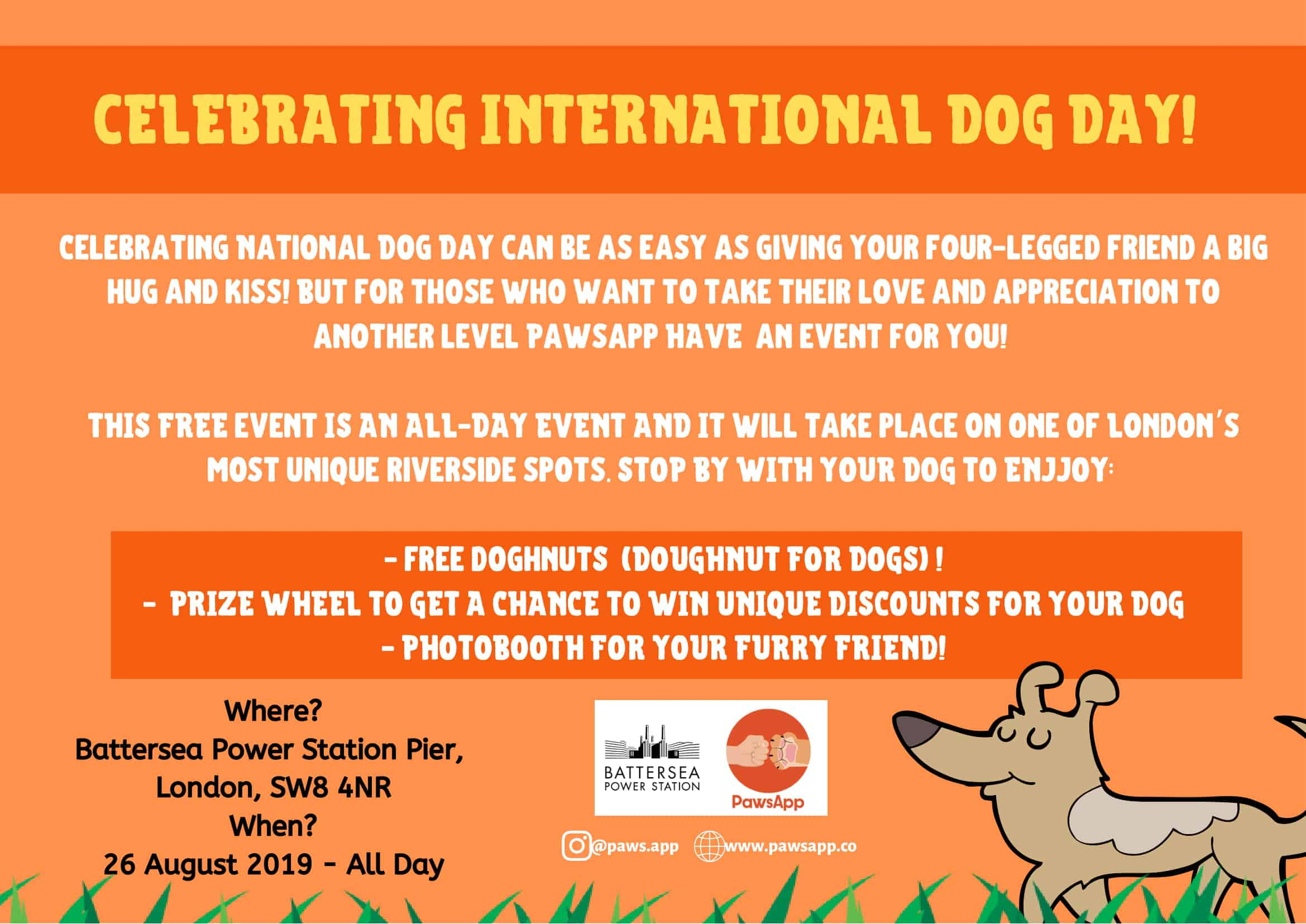 National Dog Day with Pawsapp at Battersea Power Station