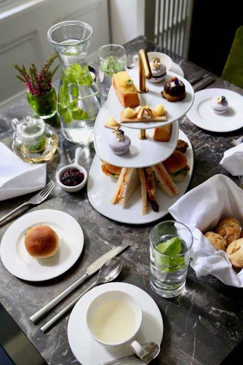 Best Dog-friendly Afternoon Teas in London - Cafe Forty One - La Suite West