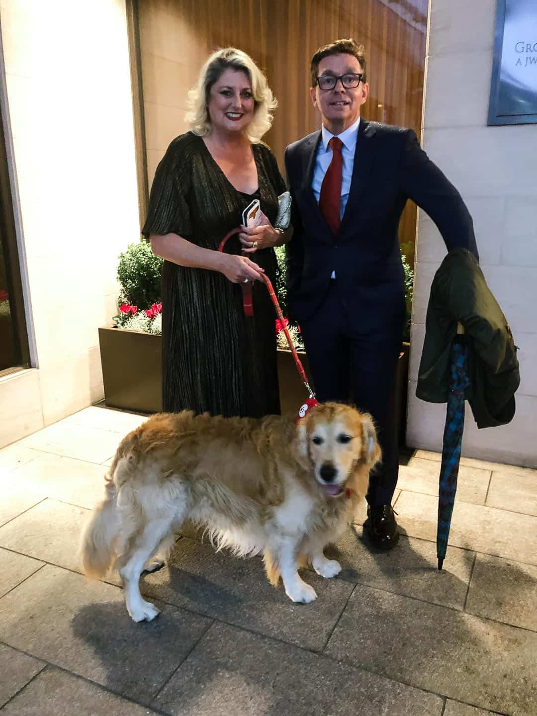Arriving at the Animal Hero Awards 2019 - Claude with Linda Goodman C.A.R.I.A.D