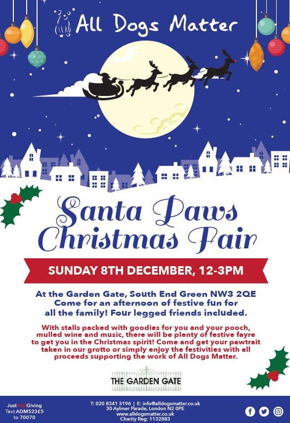 Flyer - All Dogs Matter Santa Paws Christmas Fair 2019