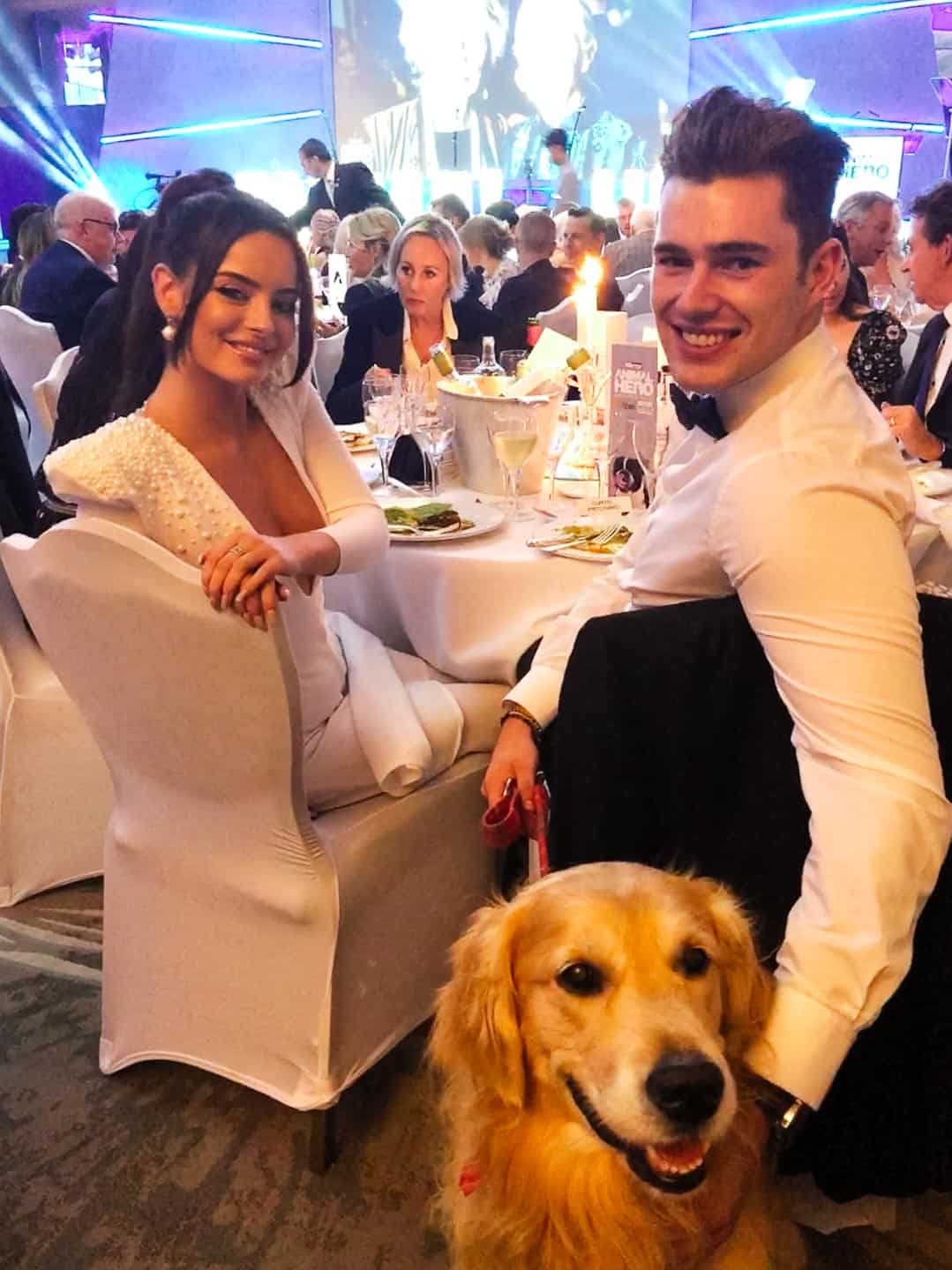 Love Island's Maura Higgins and Curtis Prtichard at The Animal Hero Awards 2019